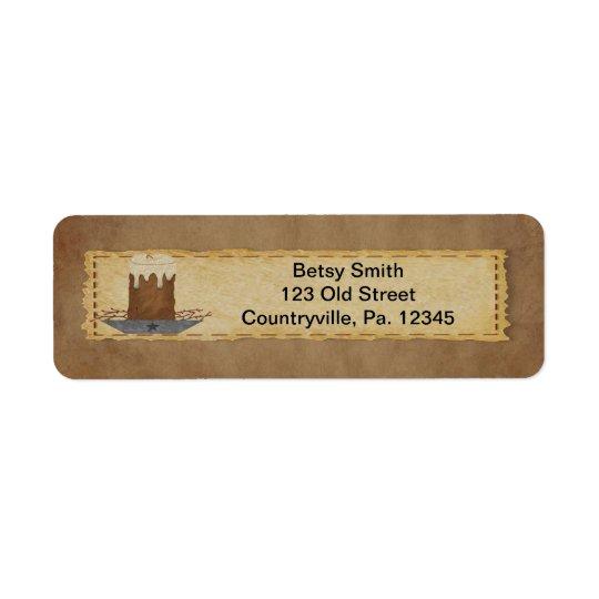Primitive Candle Address Label