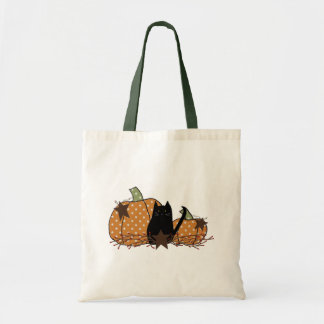 Primitive Cat And Pumpkins Bag