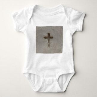 Primitive Christian Cross customize favorite Bible Baby Bodysuit