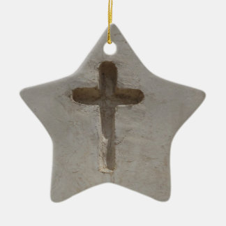 Primitive Christian Cross customize favorite Bible Ceramic Ornament