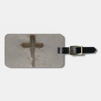 Primitive Christian Cross customize favorite Bible Luggage Tag