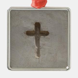 Primitive Christian Cross customize favorite Bible Metal Ornament