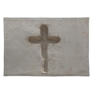 Primitive Christian Cross customize favorite Bible Placemat