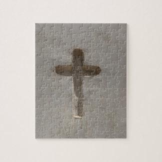 Primitive Christian Cross customize favorite Bible Puzzles