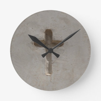 Primitive Christian Cross customize favorite Bible Round Clock