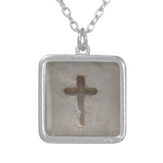 Primitive Christian Cross customize favorite Bible Silver Plated Necklace