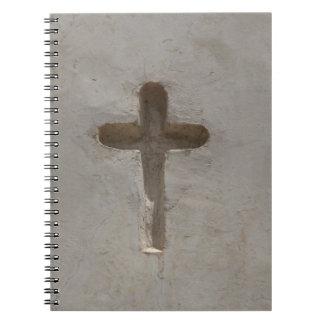 Primitive Christian Cross customize favorite Bible Spiral Notebook