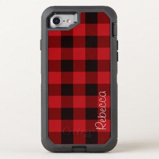 Primitive Christmas Red buffalo Plaid lumberjack OtterBox Defender iPhone 7 Case