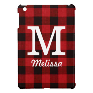Primitive Cottage Red buffalo Plaid lumberjack iPad Mini Case