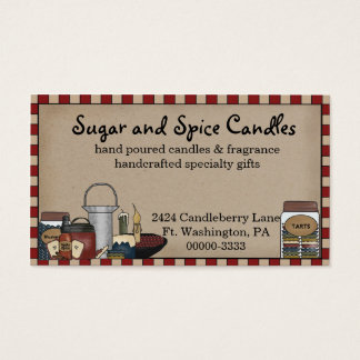 Primitive Country Candle & Scents Business Card