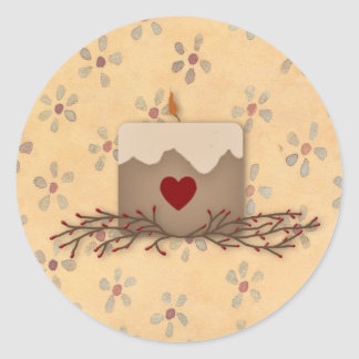 Primitive Country Candle Sticker