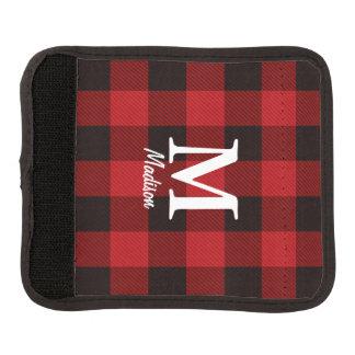 Primitive country lumberjack Red buffalo plaid Luggage Handle Wrap