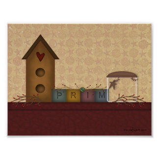 Primitive Country Shelf Print