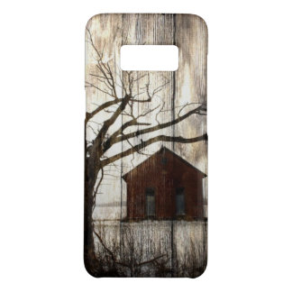 Primitive Country Woodgrain Winter Tree Red Barn Case-Mate Samsung Galaxy S8 Case
