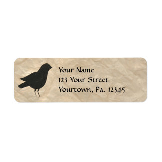 Primitive Crow Address Label
