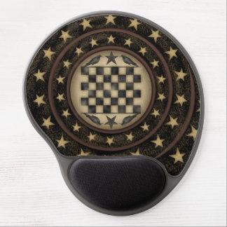 Primitive Crow Checkerboard Gel Mousepad