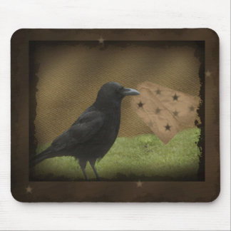 Primitive Crow Hang Tag Mousepad