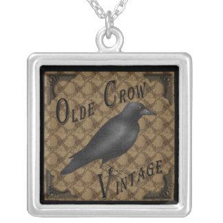 Primitive Crow Necklace Pendant