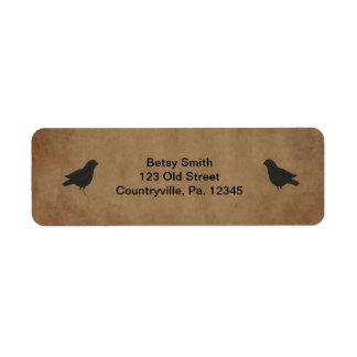 Primitive Crows Address Label