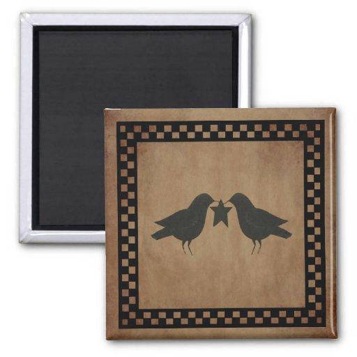 Primitive Crows Magnet