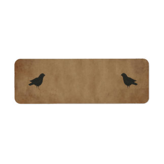 Primitive Crows Small Product Label Return Address Label