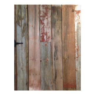primitive farmhouse western country barn wood letterhead