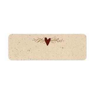 Primitive Heart Small Product Label