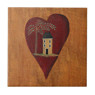 Primitive Heart Tile