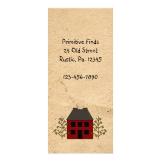 Primitive House Rack Card Book Mark