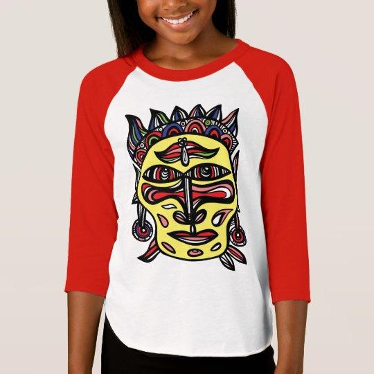 """Primitive Mask"" Girls' 3/4 Raglan T-Shirt"