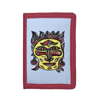 """Primitive Mask"" TriFold Nylon Wallet"