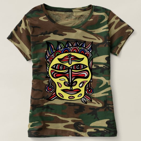 """Primitive Mask"" Women's Camouflage T-Shirt"