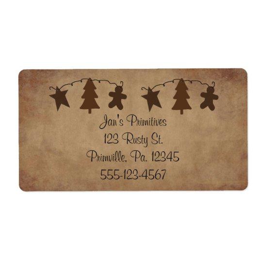 Primitive Ornaments Label Shipping Label