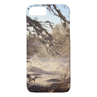 Primitive Pine Tree Woodland Winter Forest iPhone 8/7 Case