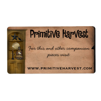 Primitive Rustic Label - Custom Order Shipping Label