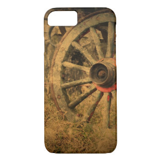 Primitive Rustic Western Country Wagon Wheel iPhone 8/7 Case