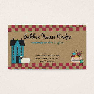 Primitive Saltbox House Business Card