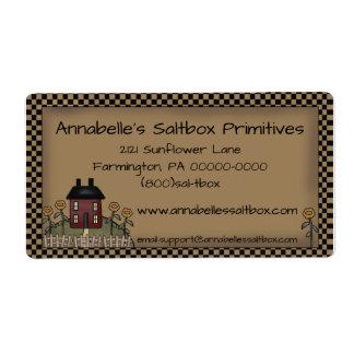Primitive Saltbox & Sunflowers Personalized