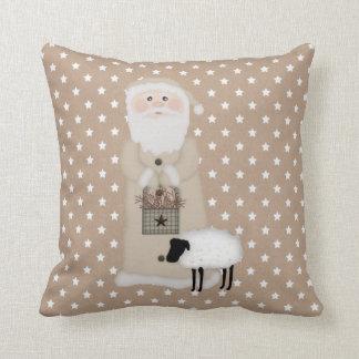 Primitive Santa Pillow