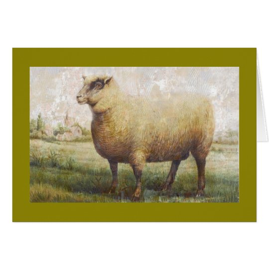 Primitive Sheep Card