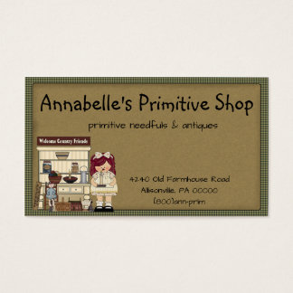 Primitive Shop Country Business Card