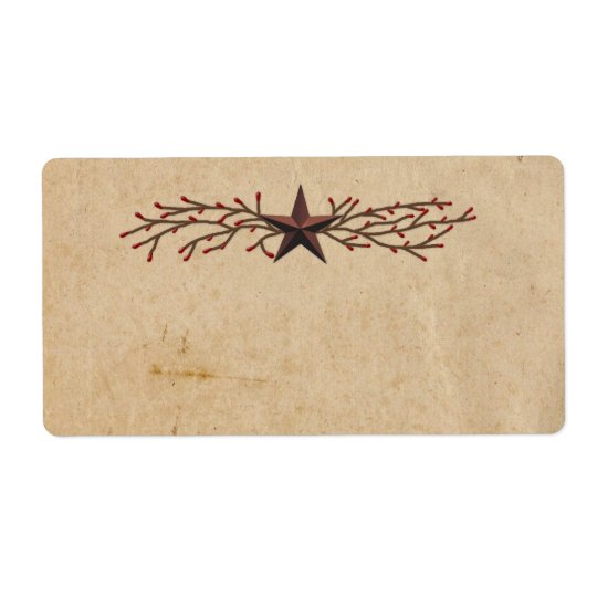 Primitive Star Product Label Shipping Label