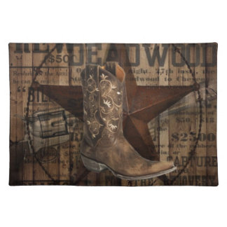 Primitive texas lone Star Western Country Cowboy Placemat