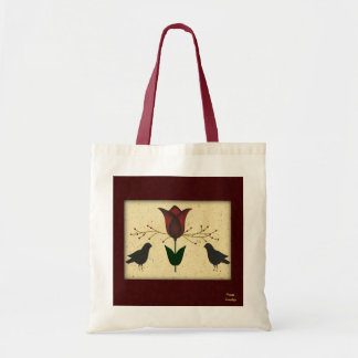 Primitive Tulip Budget Tote Bag