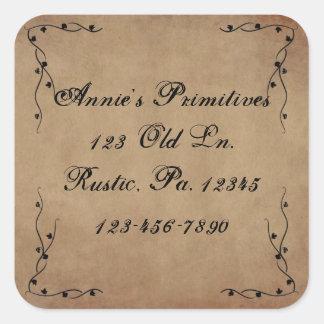 Primitive Vines Square Sticker