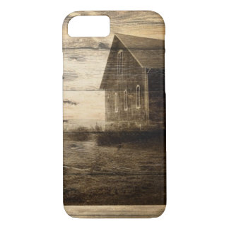 primitive western country old barn farmhouse cabin iPhone 8/7 case