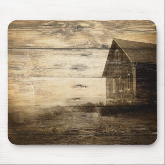 primitive western country old barn farmhouse cabin mouse pad