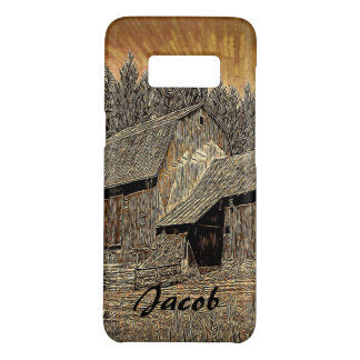 Primitive Western country old barn farmhouse Case-Mate Samsung Galaxy S8 Case