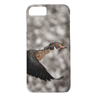 Primitive Western Country waterfowl wood duck iPhone 8/7 Case