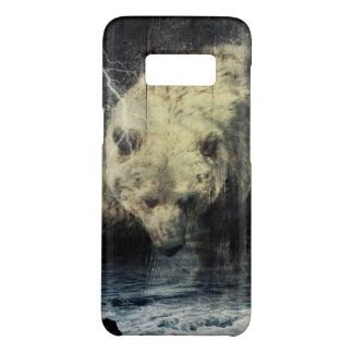 Primitive Western Woodgrain Woodland Grizzly Bear Case-Mate Samsung Galaxy S8 Case